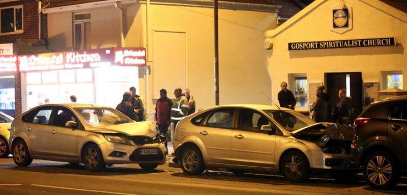It Felt Like The Earth Move As Fast Food Delivery  Driver Smashes Into Stationary Cars In Gosport