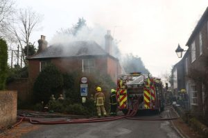 man suffers serious burns after house fire in hampshire village