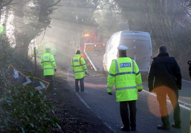 Police Appeal  For Witnesses  After Andover Van Driver  Dies  In Highclere