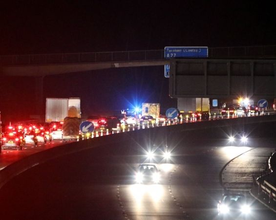 Police Close M27 Westbound Between Junction 12 And Junction 11 In Portsmouth Following A Collision