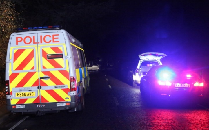 Police Close Road In Hampshire Village Near Winchester Following Serious Incident