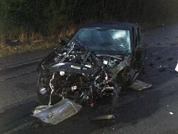 two drivers left with serious injuries after four vehicle pile up in basingstoke