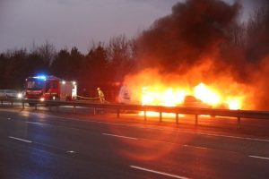 m40 fire ball after two vehicle crash