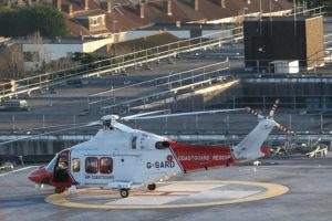 major rescue involing coastguard helicopter from container ship in the solent