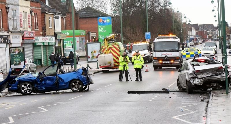 Police Slam Driver After He  Makes Off From Crash Leaving Female Trapped
