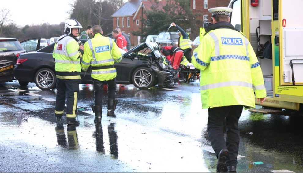 a31 closed after serious three vehicle collision in the new forest