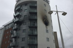 kitchen fire rips through flat leaving it gutted at gunwharf quays