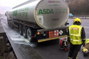 quick thinking tanker driver averts major incident on m3 motorway