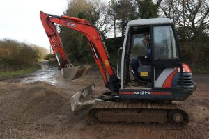 school kids skip school and go on rampage with digger at golf club