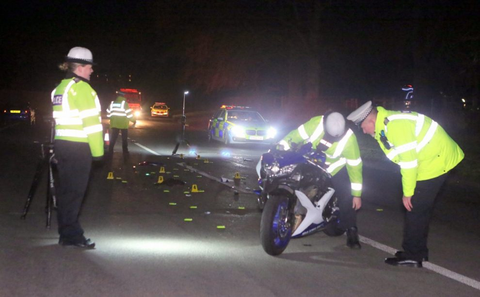 biker killed in fatal collision on a25 gomshall