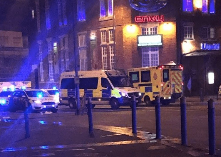 breaking armed police descend on portsmouth night club