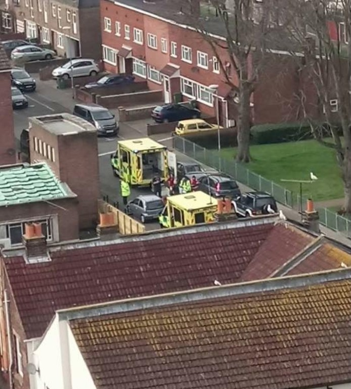 breaking city road in portsmouth closed off following incident