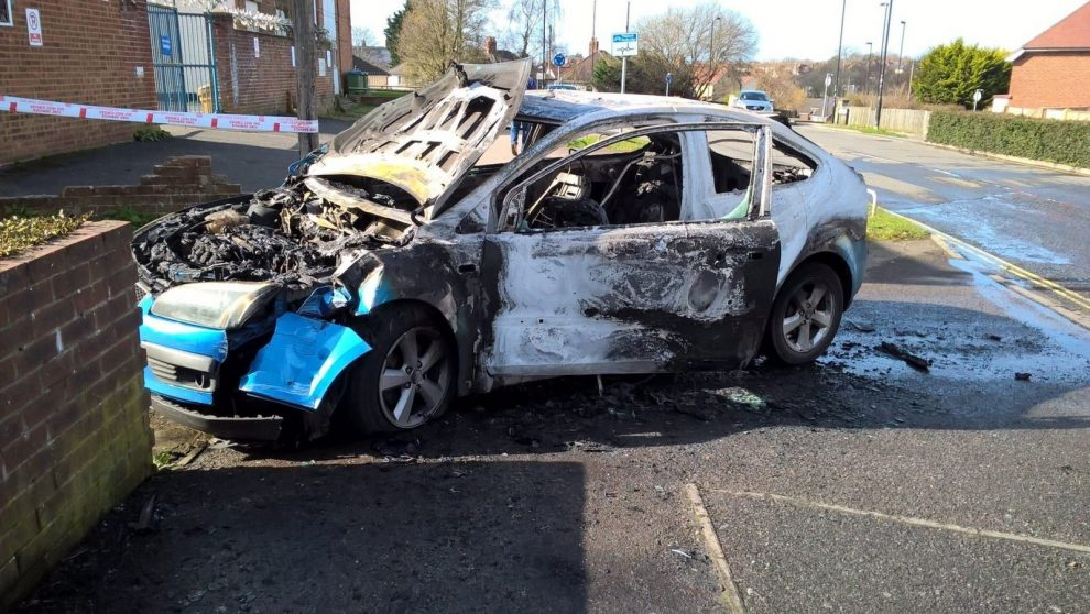 breaking police appeal after car turns into a fire ball in southampton
