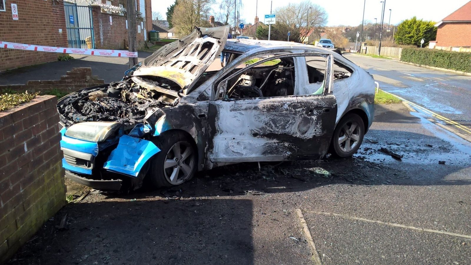 Breaking :police Appeal After Car Turns Into A Fire Ball In Southampton