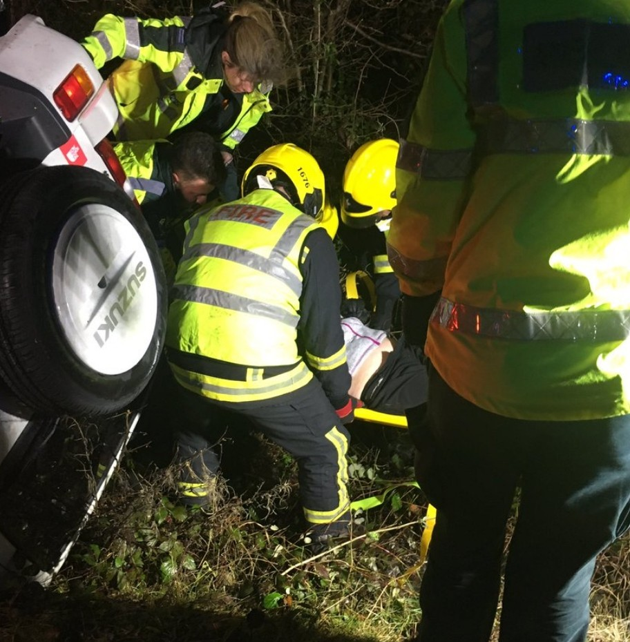 driver escapes serious injury following crash on a3 motorway
