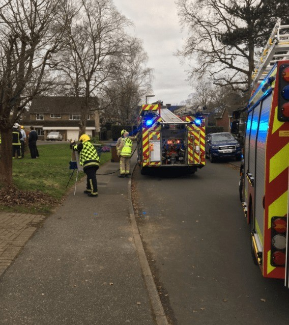 Fire Crews Called To Tackle Washing Machine Fire In Camberley