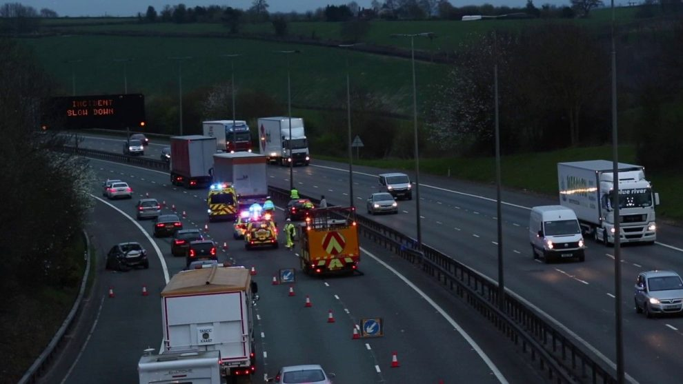 multi vehicle collision closes part of m40 in high wycombe