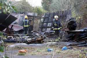 arson probe launched after villiage hall gutted by fire in chessington