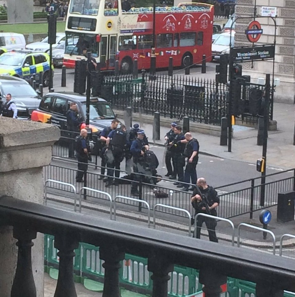 Breaking: Man Arrested With A Knife Outside Houses Of Parliament