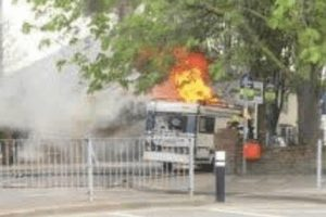 camper van catches fire in portsmouth