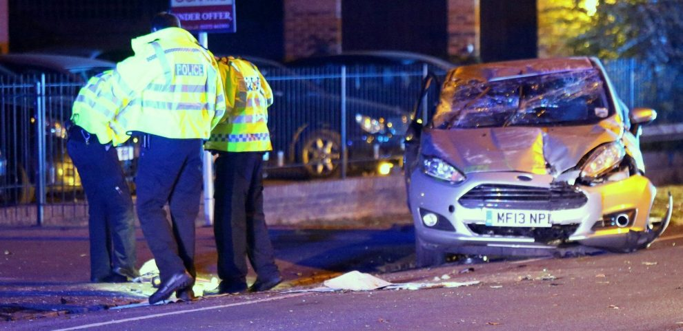 driver escapes serious injury after car ploughs into railings in esher