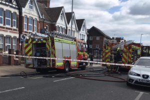 eleven people and cats rescued following southampton flat fire