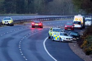 exclusive police vehicles worth 250k written off after serious police chase on m27 in hampshire