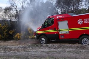fire breaks out at yateley common in hampshire