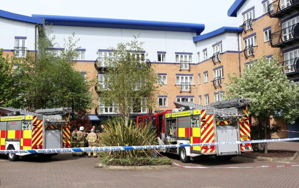 fire probe launched and firefighter taken to hospital