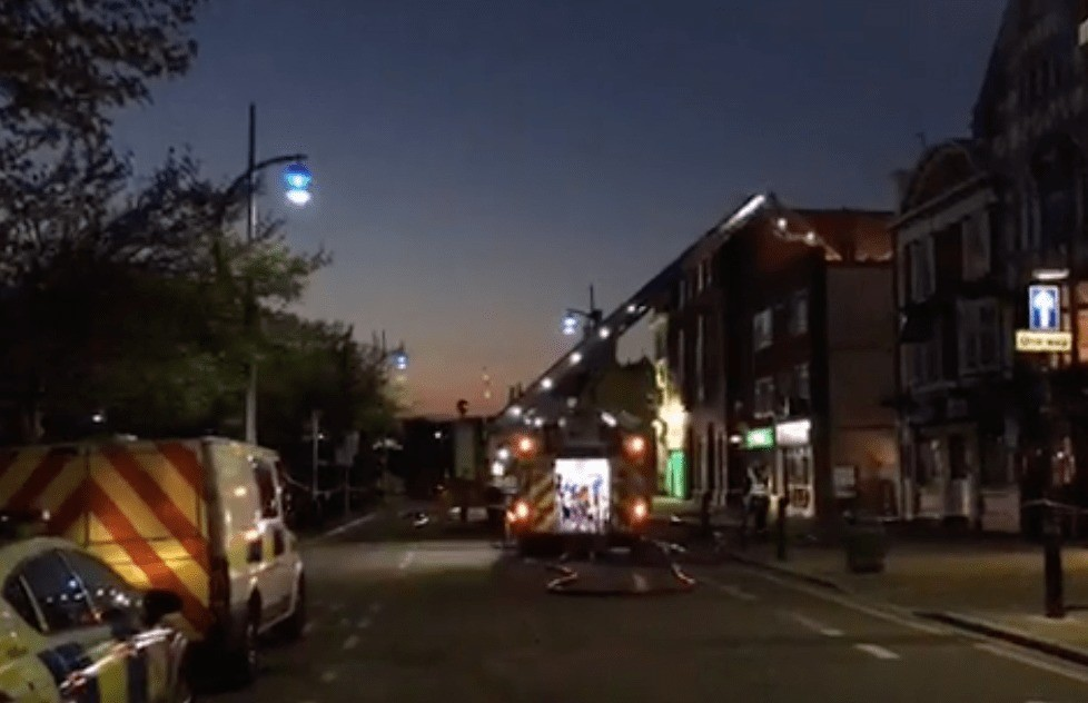 fire rips through flat above portsmouth chip shop one person hurt