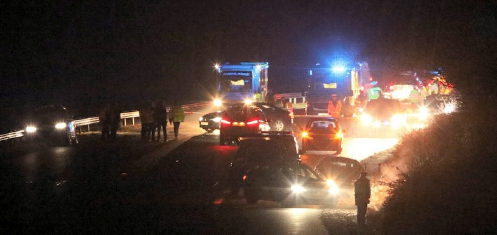 multi vehicle collision closes m27 eastbound between junction one and two