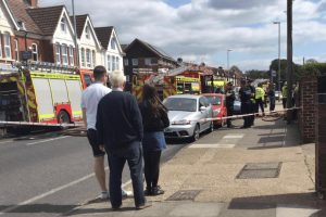 police close goldsmith avenue portsmouth after fire rips through property