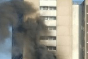 woman arrested for arson after tower block fire in southampton