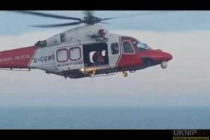 dramatic footage from coastguard of three people rescued from dangerous cliff at lulworth