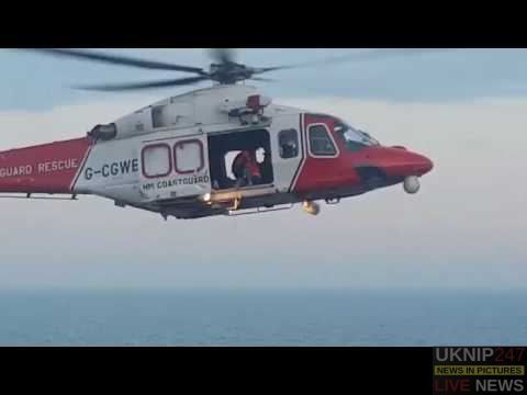 Dramatic Footage From #coastguard Of Three People Rescued From Dangerous Cliff At #lulworth