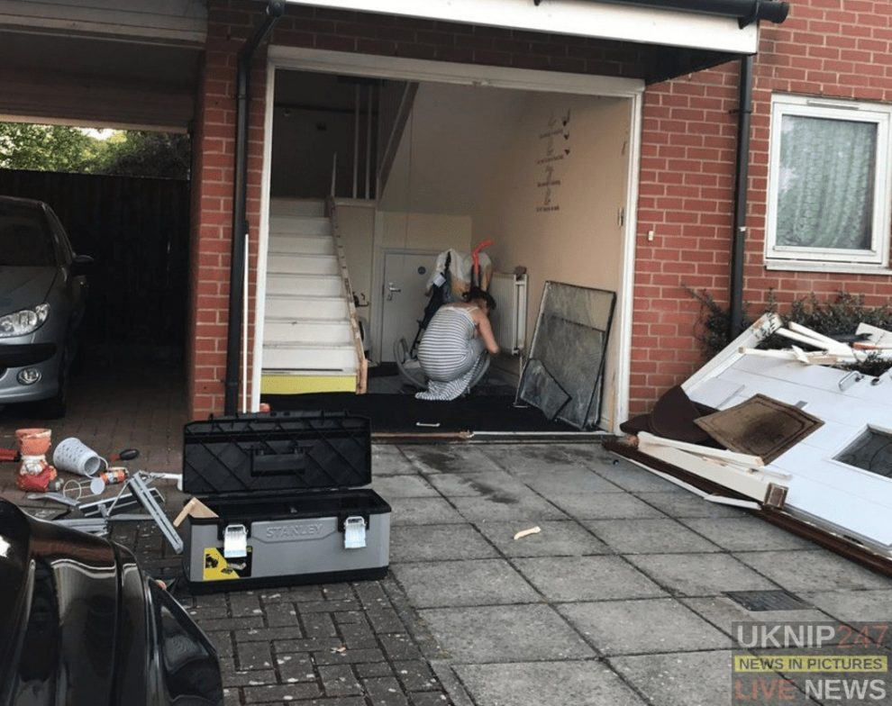 drunk and already disqualified driver ploughs into the front of house