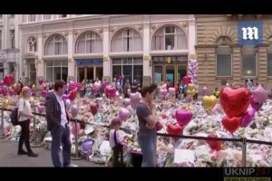 ever growing ocean of flowers in manchester as city mourns its dead