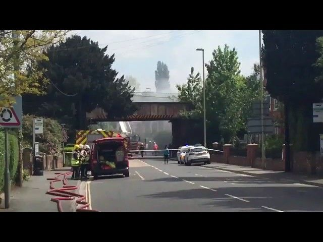forty firefighters battling to save romsey property
