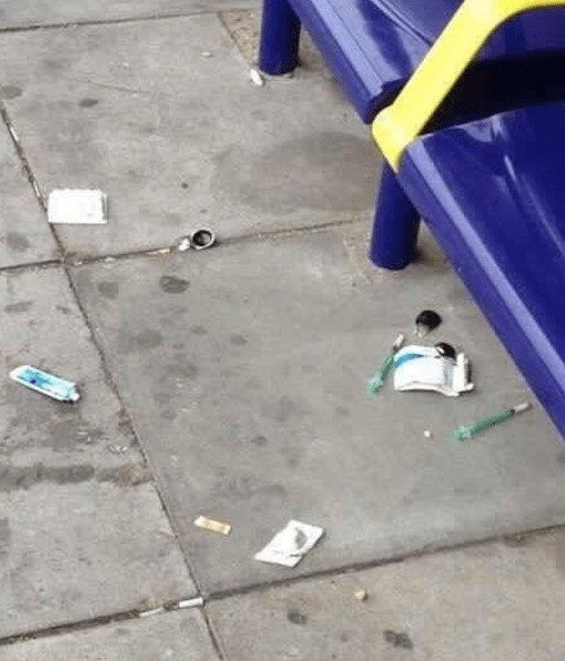 health alert after used drugs needles discarded at southsea bus stop