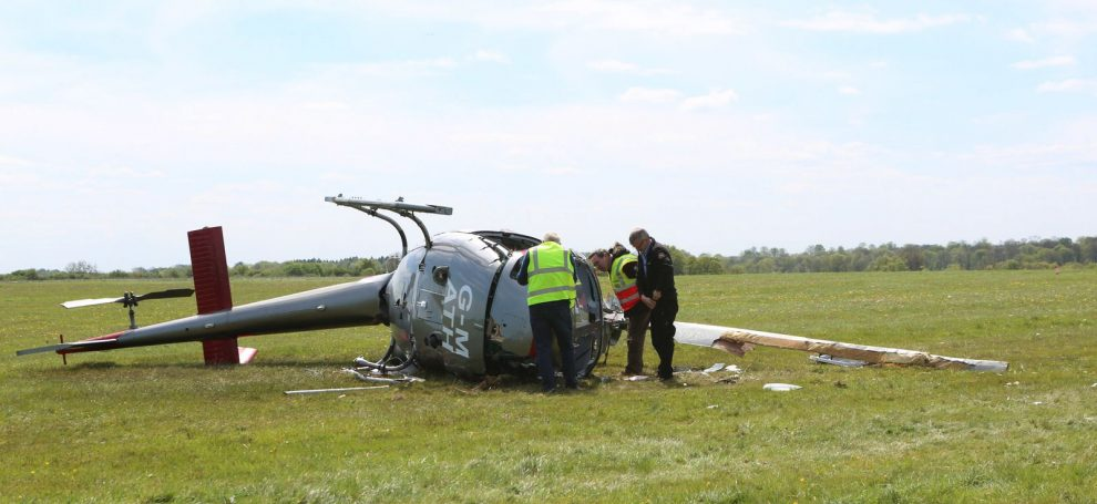 high wycombe helicopter crash man fighting for life