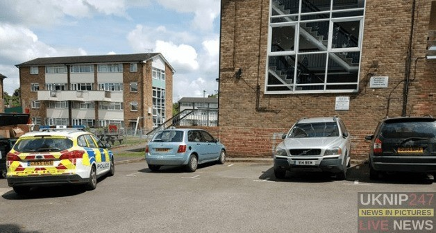 Petty Resident Complains Over  Police Car Parking As Man With Knife Is Arrested