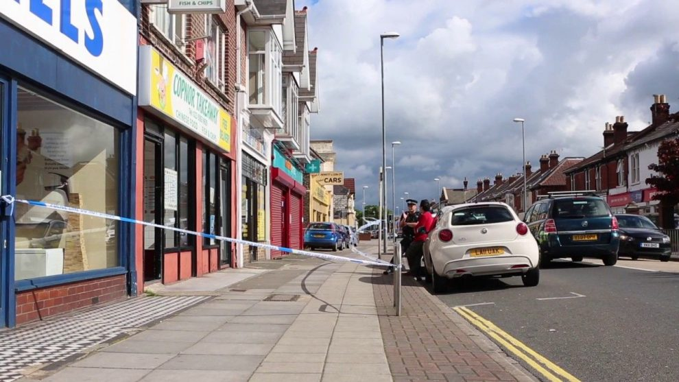 teenager rushed to specialist hospital after late takeaway fight