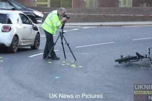 driver arrested and cyclist airlifted to hospital after serious collision in fratton