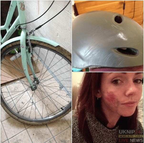 eight minute cycle from work nearly cost me my life but the helmet saved me