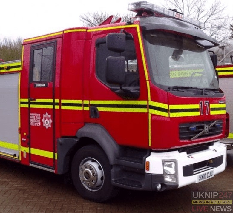 fire crews called to electricity sub station fire in fareham