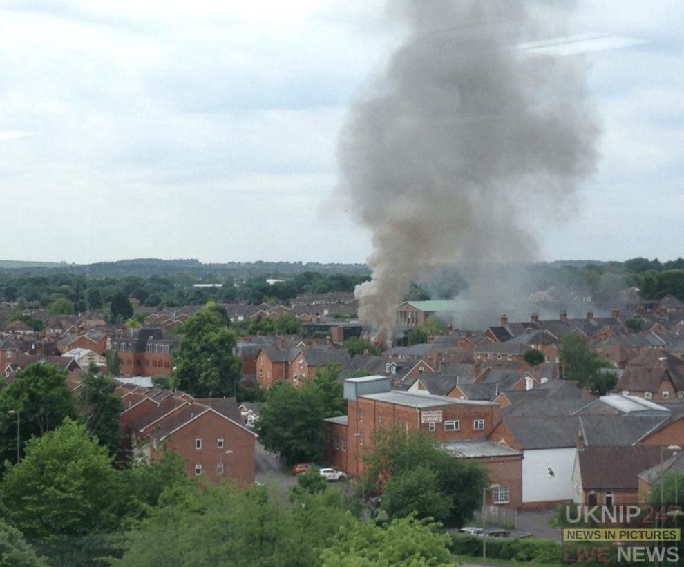 fire crews called to house fire thats well alight in basingstoke