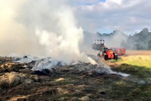 fire crews called to tackle 80 tonnes of hay ablaze in bordon