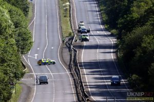 man killed after being struck by van on a3