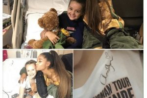 manchester ariana grande visits injured fans in hospital