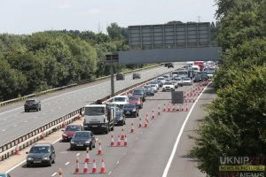 morning commuters faced 10 miles of tailbacks and around two hours of delays on the m3
